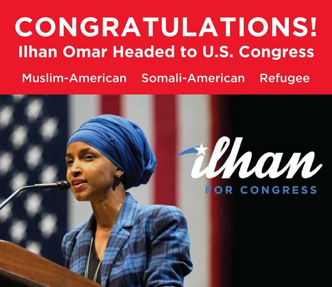 Image result for congratulations to Ilhan Omar